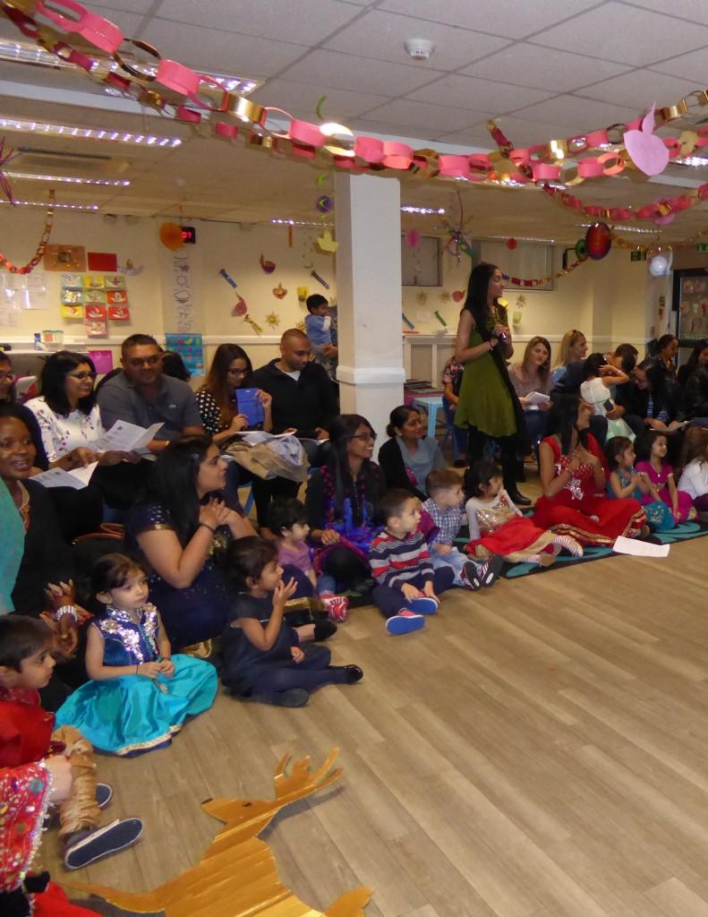 Diwali fun with parents